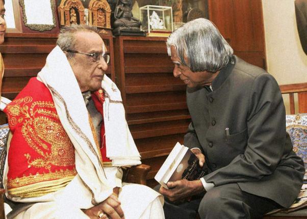Bhimsen Joshi with Abdul Kalam