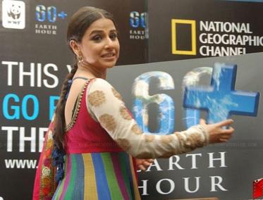 Vidya-Balan & WWF promots Earth-Hour